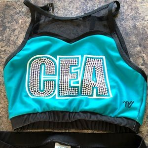 Cheer extreme bling practice wear set